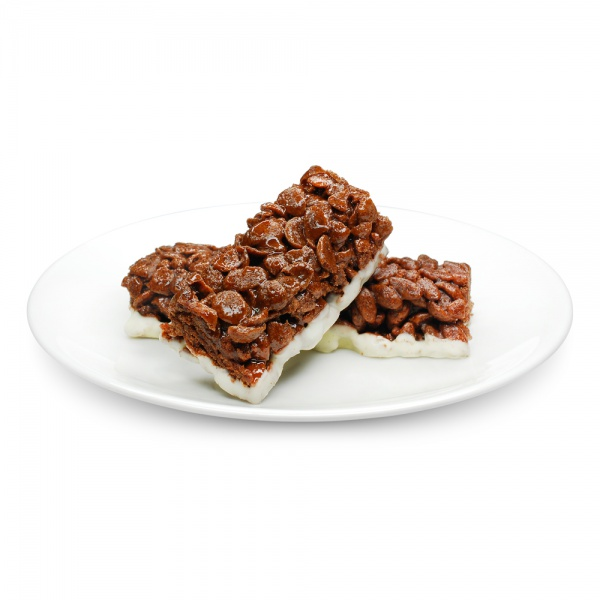 Chocolate Flavour Cereal Bar - shells with Milk Coating