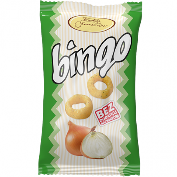 Bingo onion-corn puffs