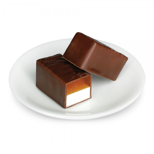 Marshmallow and jelly in chocolate