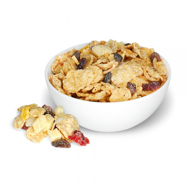 Rice flakes cereals - exotic fruits