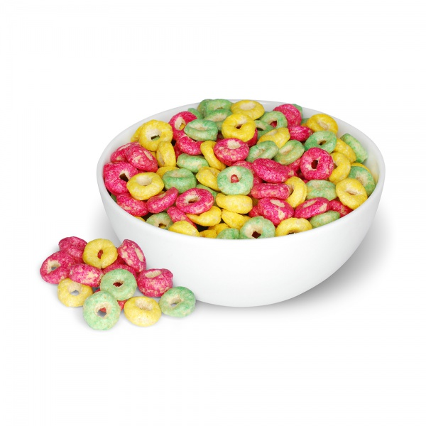 Fruit flavoured cereals rings