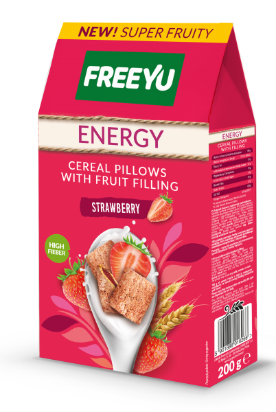 ENERGY CEREAL PILLOWS WITH FRUIT FILLING